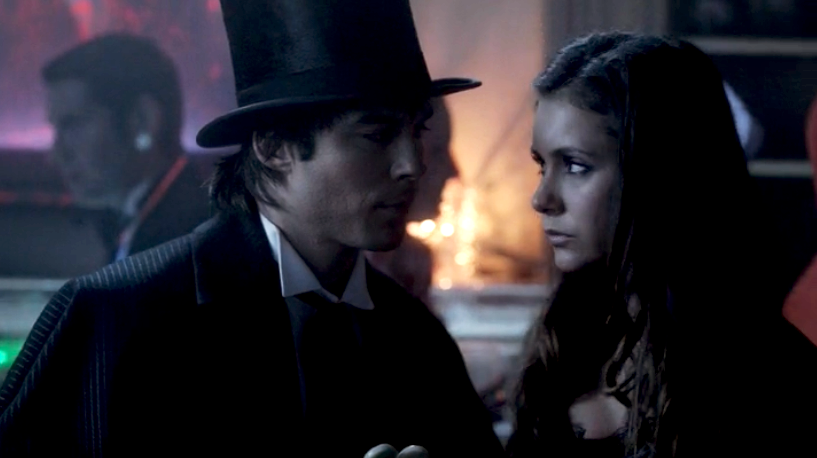 Damon salvatore and elena gilbert season 4