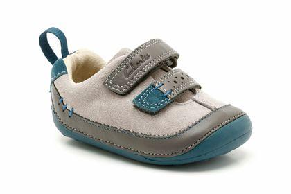 Zapatos morados Clarks infantiles OOnkTF