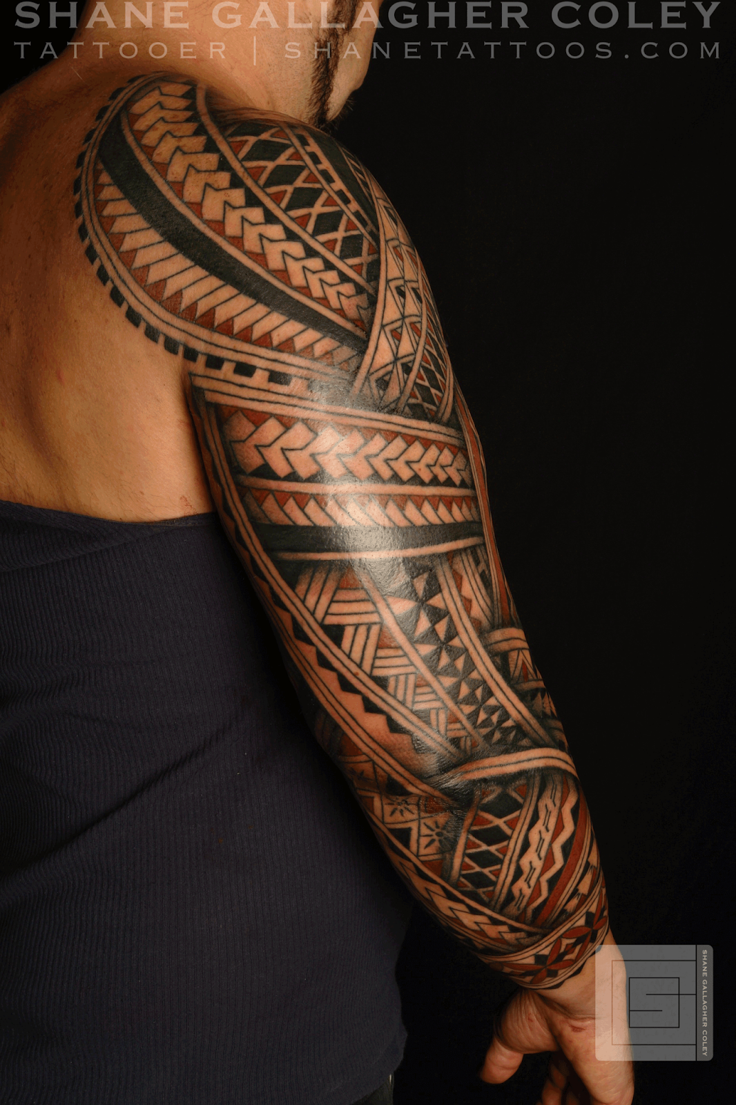 maori polynesian tattoo polynesian sleeve. Black Bedroom Furniture Sets. Home Design Ideas