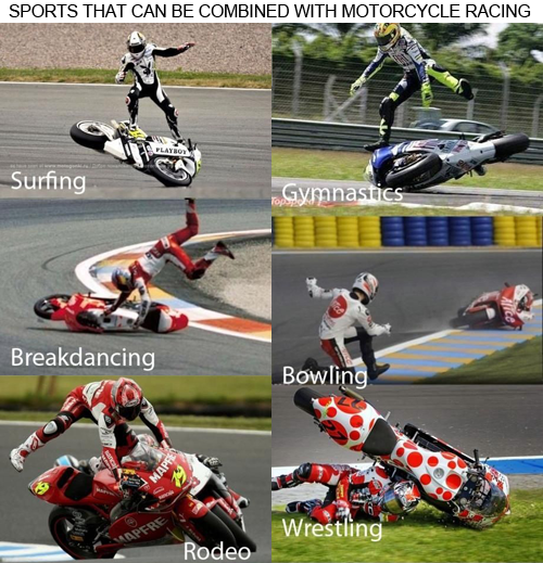 MotoGP accident, motorbike falls, funny, funny picture, sport