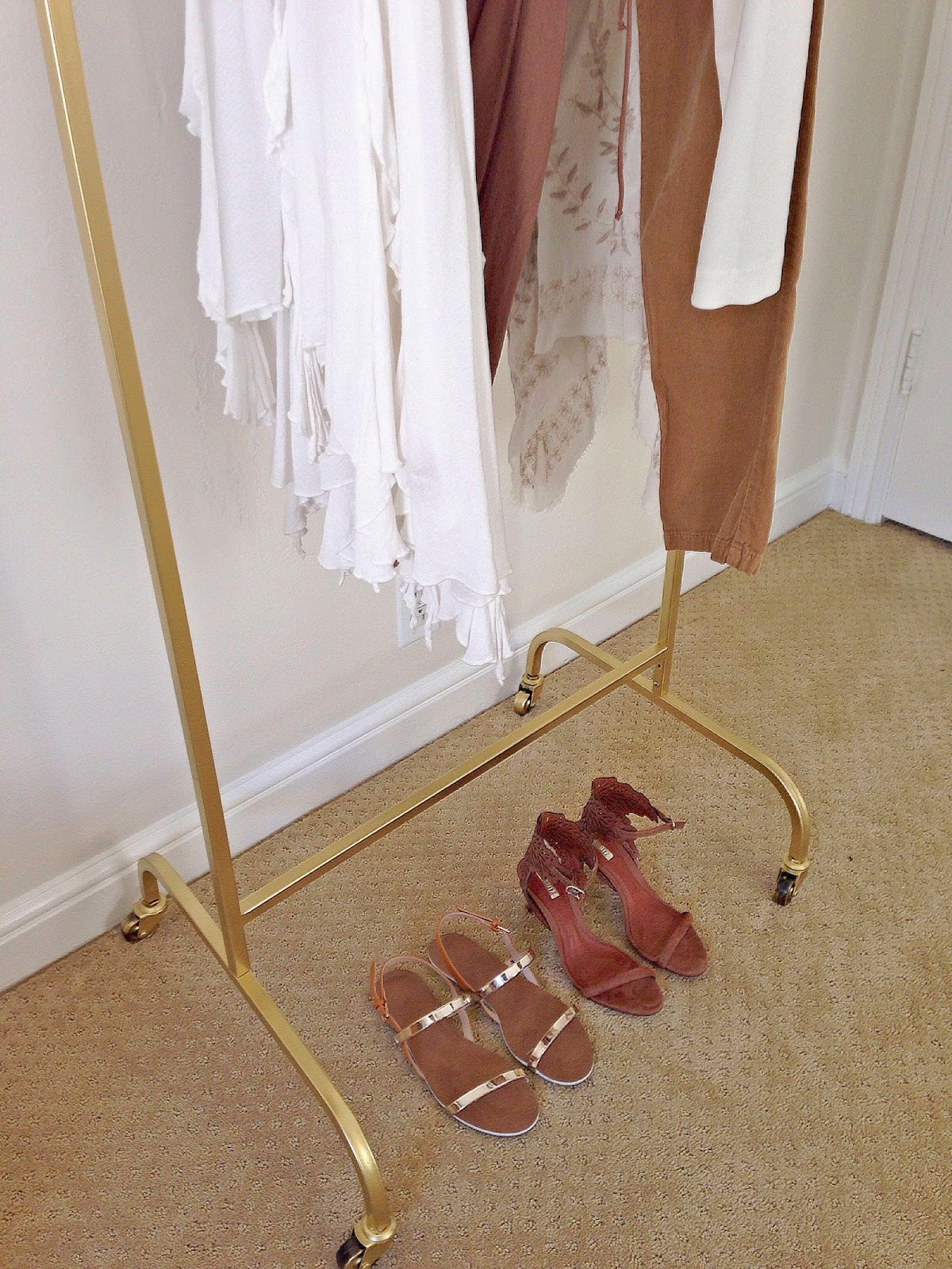 DIY Gold Clothes Rack Basics and Gold