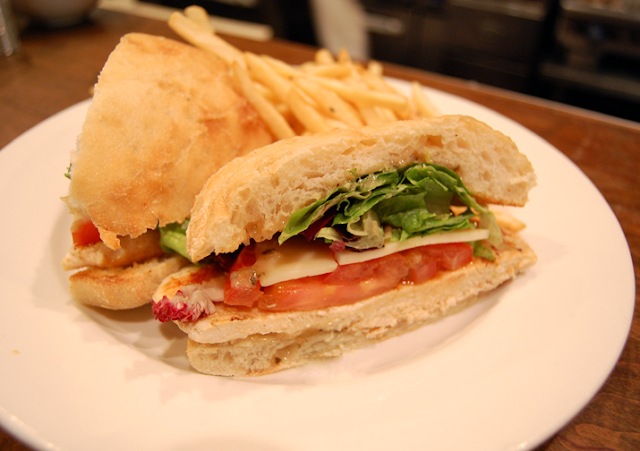 ... KITCHEN: Crispy Chicken Honey Mustard Sandwich with Tuscan Fries