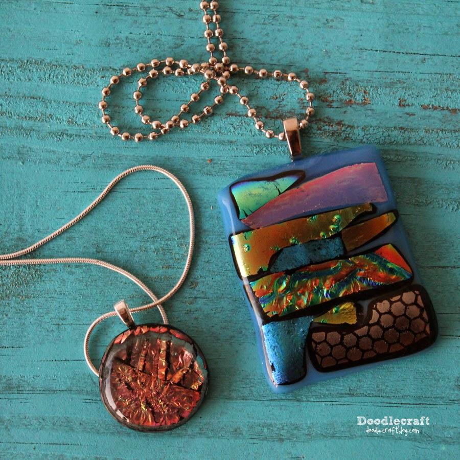 http://www.doodlecraftblog.com/2014/07/dichroic-glass-pendants.html