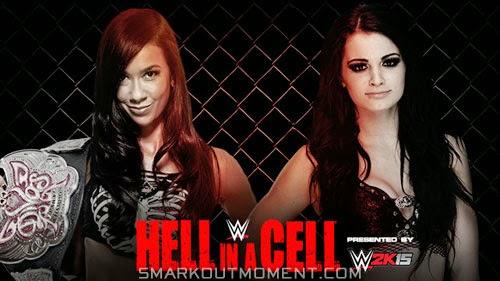 Hell in a Cell Divas AJ Lee vs Paige Divas Championship 2014