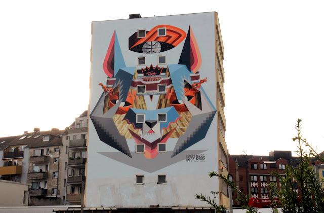Street Art By Low Bros In Germany For CityLeaks Urban Art Festival.