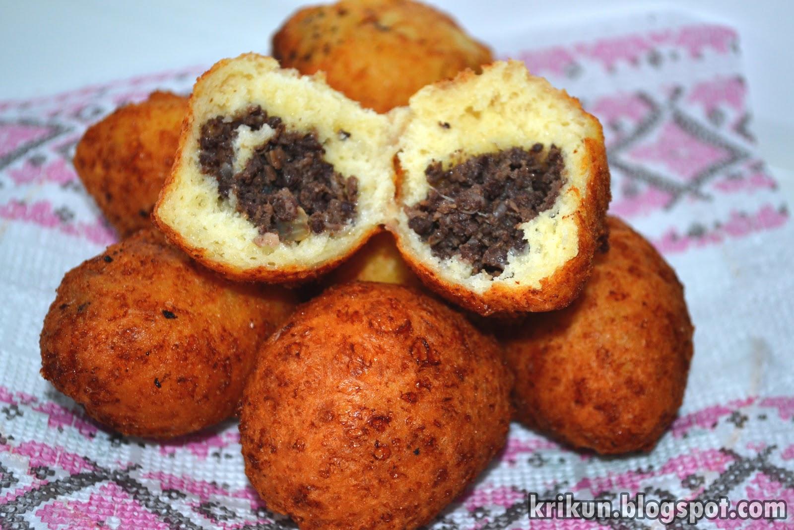 Пончики с фаршем жареные пошаговый рецепт