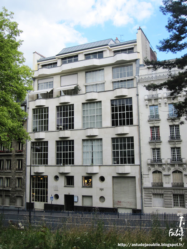 Michel Roux-Spitz immeuble d'ateliers et magasin Pernel 1931 Paris 14eme rue de la cité universitaire as tu deja oublié