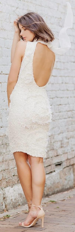 Open BackWhite Dress