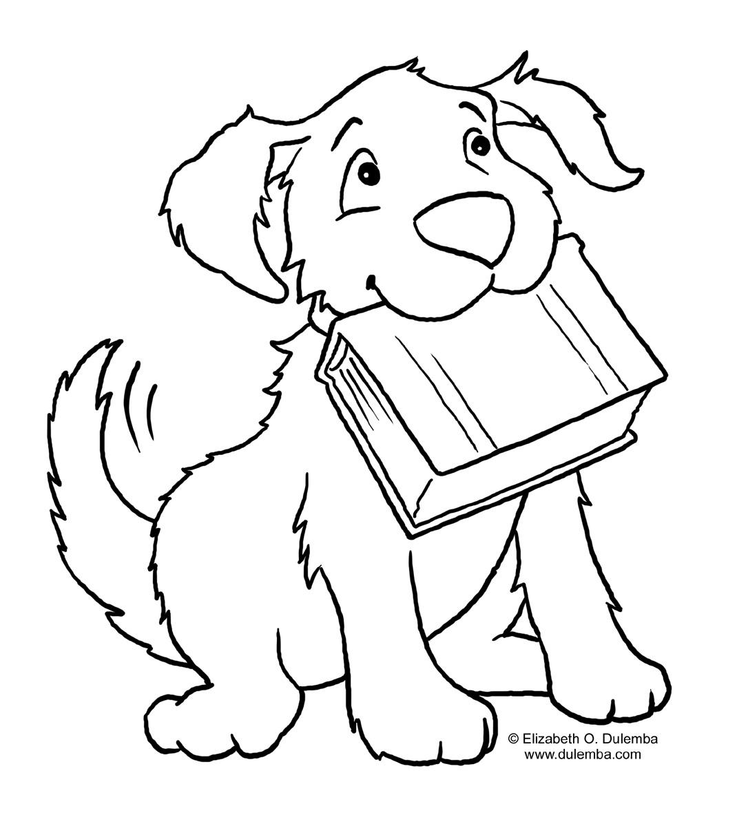 best coloring page dog  september 2012