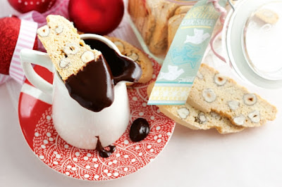 Christmas biscotti and choc dipping sauce Recipe