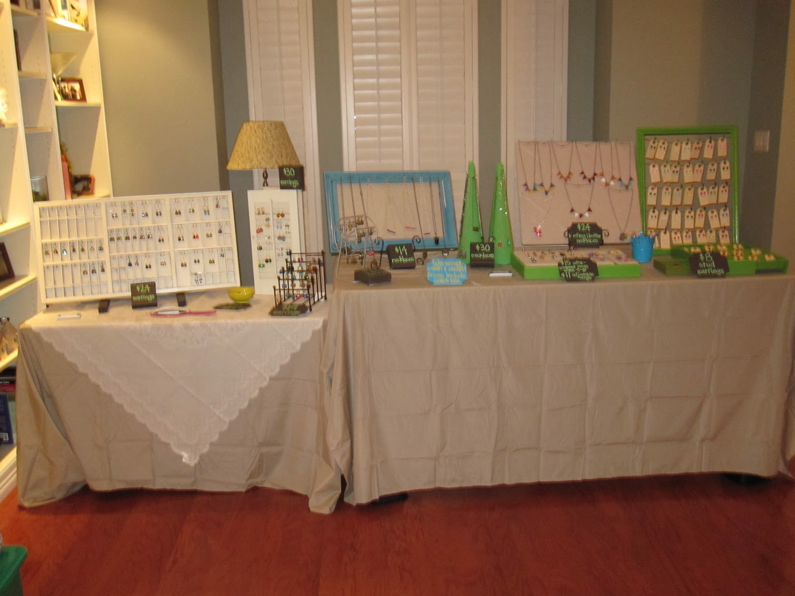 Here\u0027s a summary I\u0027ve got a 4 foot table on the left with a printer\u0027s tray that my helpful husband spray painted white and screwed in tons of little half ... & Lazy Owl Boutique: Preparing for my very first craft show