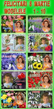 Felicitari  8  Martie  -  Modelele  1 - 10