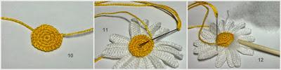 Margaritas a crochet paso a paso en fotografía