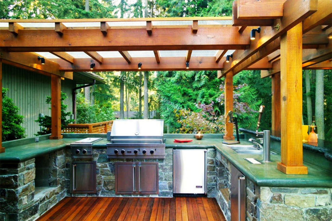 Simple Outdoor Kitchen Designs Simple Outdoor Kitchen Design Ideas Interior Home Decorating Ideas