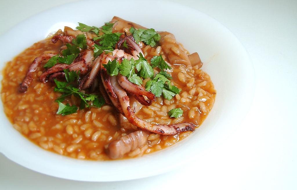 SQUID AND RED WINE RISOTTO
