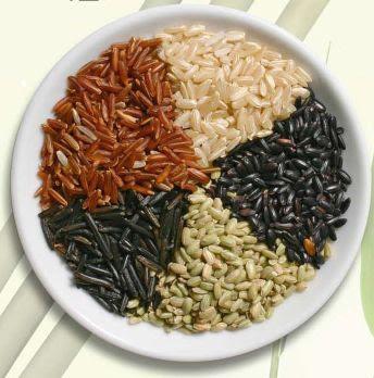 beras merah dan gandum