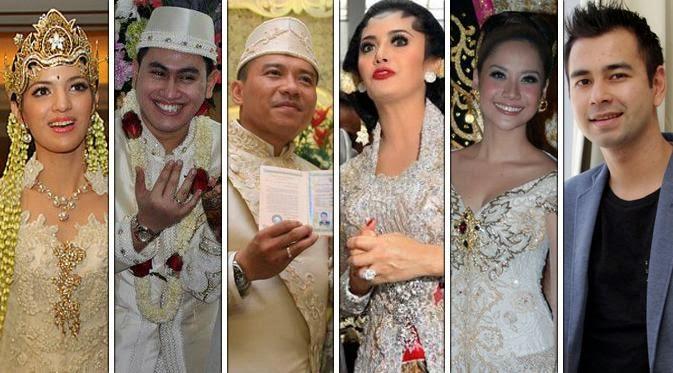6 Resepsi Pernikahan Selebriti Terheboh dan Termewah di Indonesia