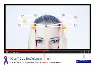 Imagen de la campaña #ConTICgoSinViolencia 2013