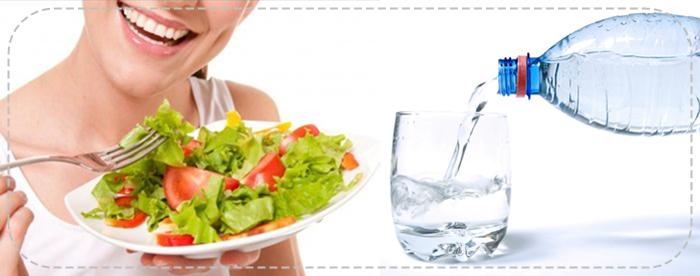 alimentação e água