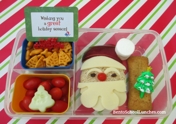 Santa Christmas Bento School Lunch