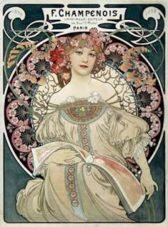 Art Nouveau, Alphonse Mucha, vintage posters