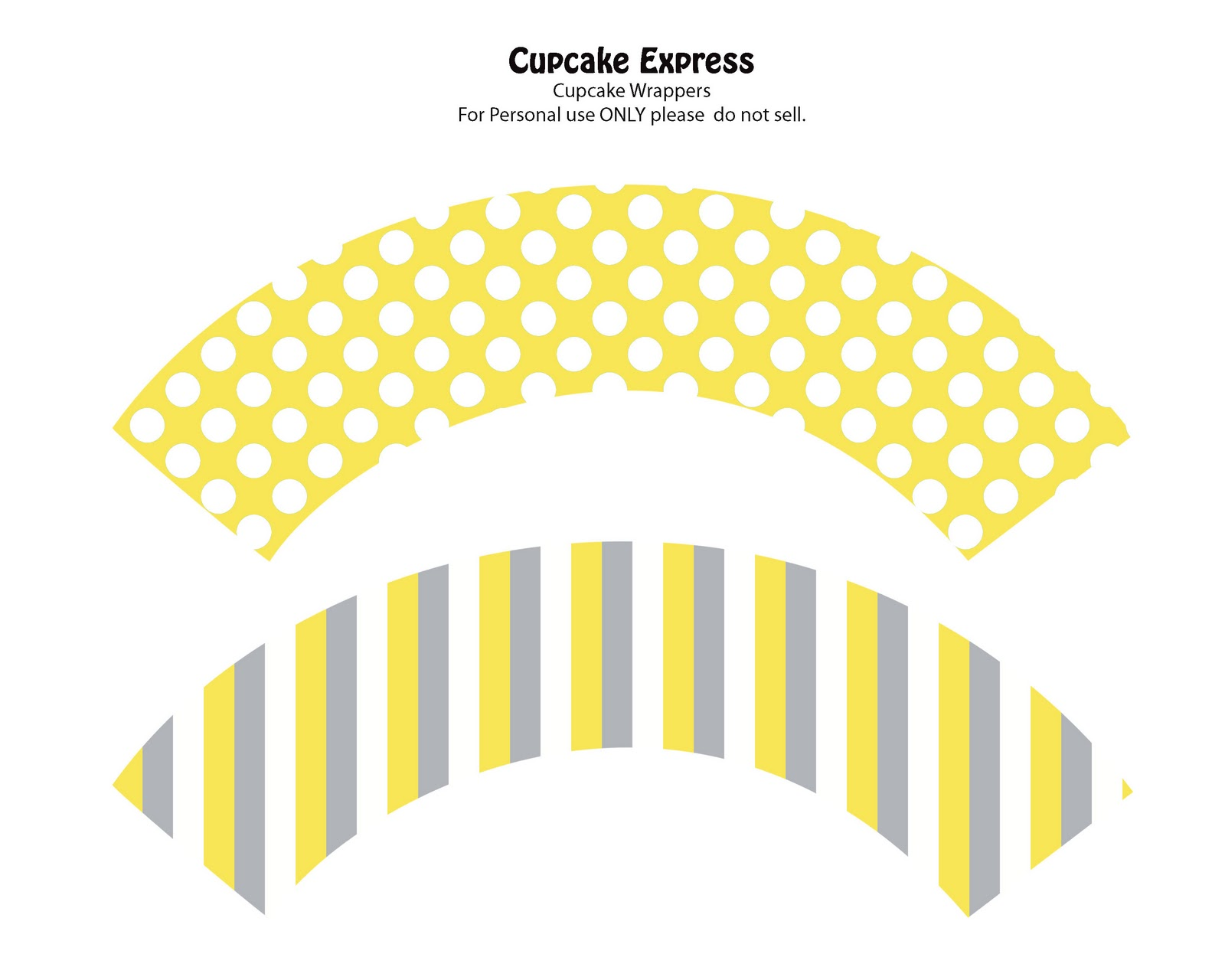 Yellow Cupcake Wrappers