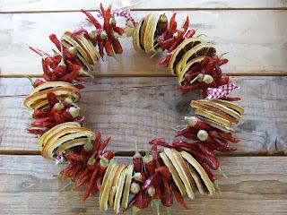 Coronas Navideñas, Frutos Secas