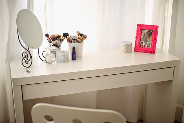 updated my ikea malm dressing table burningblonde. Black Bedroom Furniture Sets. Home Design Ideas