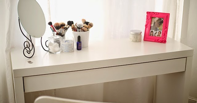 updated my ikea malm dressing table burningblonde. Black Bedroom Furniture Sets. Home Design Ideas