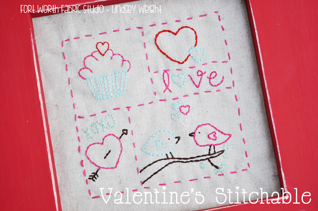 valentines embroidery pattern