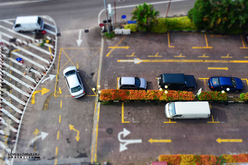 miniature, tilt-shift, cars, Nikon D5100