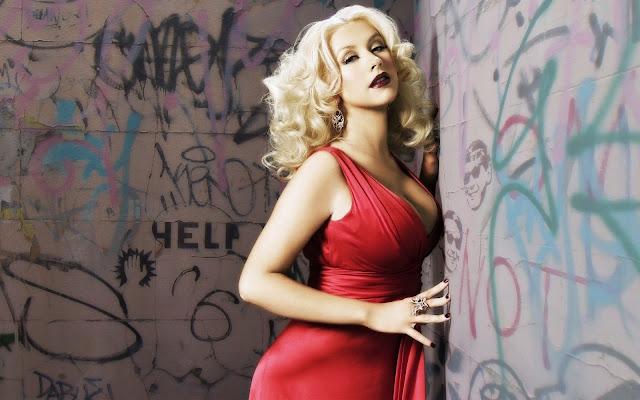 Christina Aguilera in Red Dress