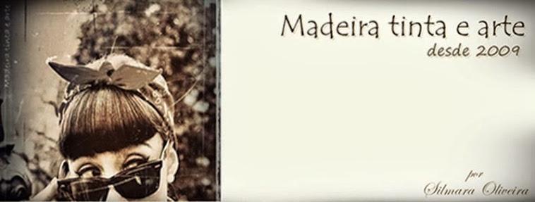 Madeira tinta e arte