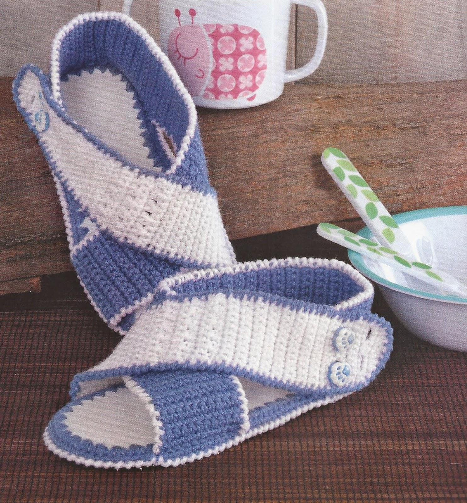 Zapatos a Crochet - Sandalias Infantiles