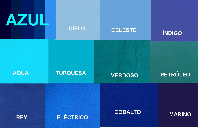 Mi centro de recursos azul blau blue - Gamas de colores azules ...