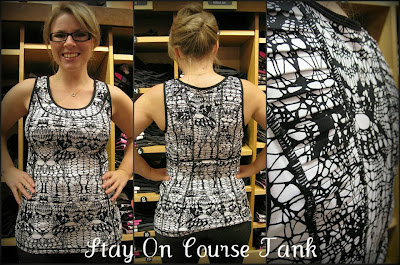 lululemon stay on course tank glacier lace print