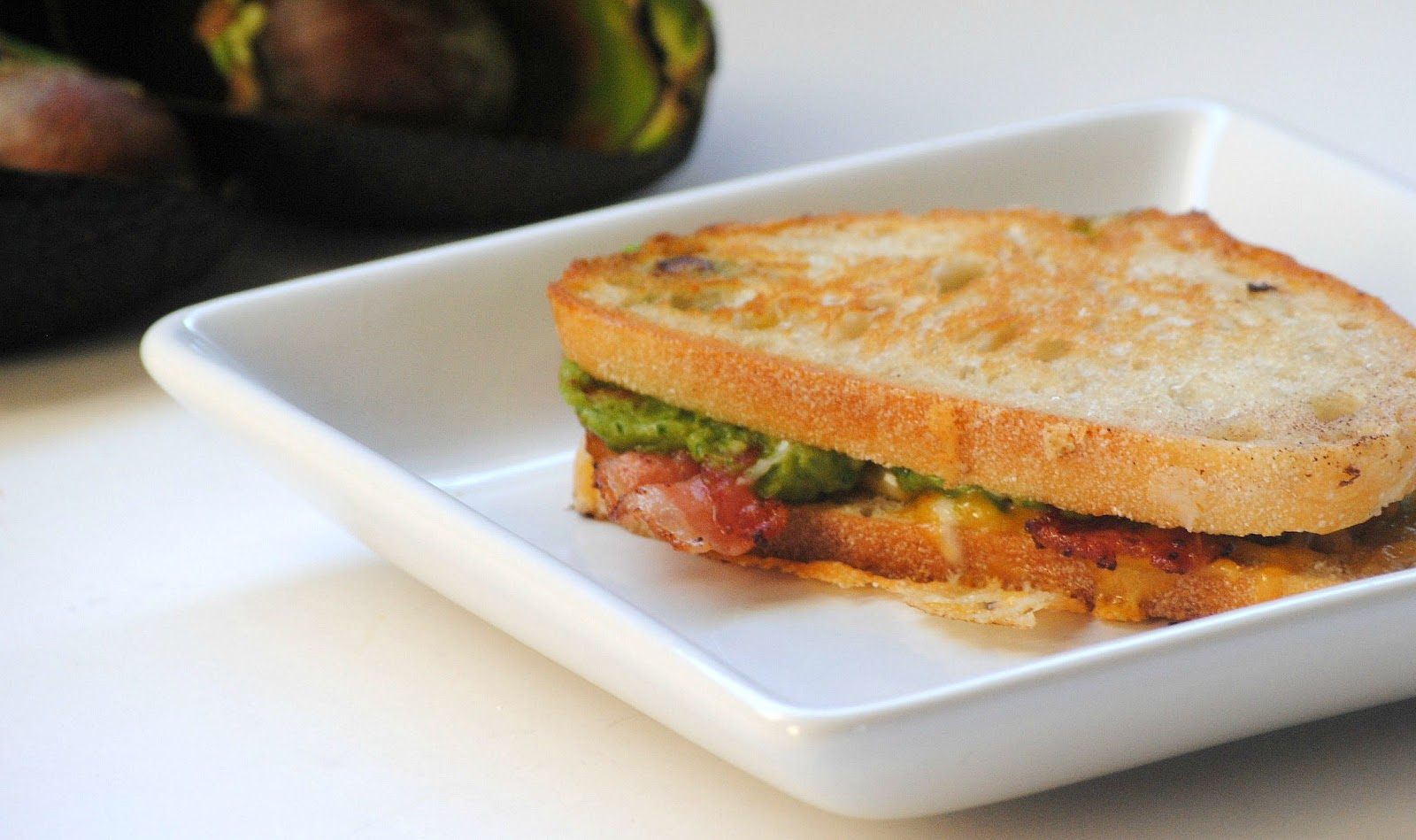 The Farm Girl Recipes: Guacamole Bacon Grilled Cheese Sandwich
