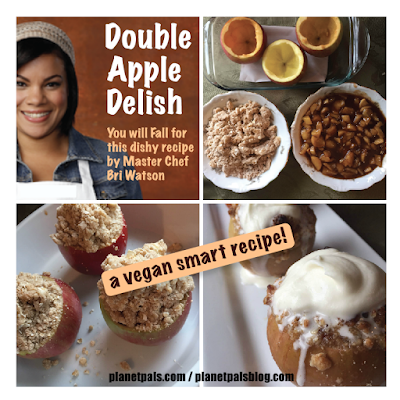 Double Apple Dish With Healthy Alternatives  and Vegan Smart! Healthy Alternatives from Master Chef Bri Watson