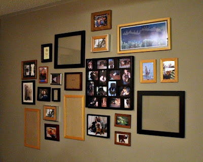photo frame gallery wall