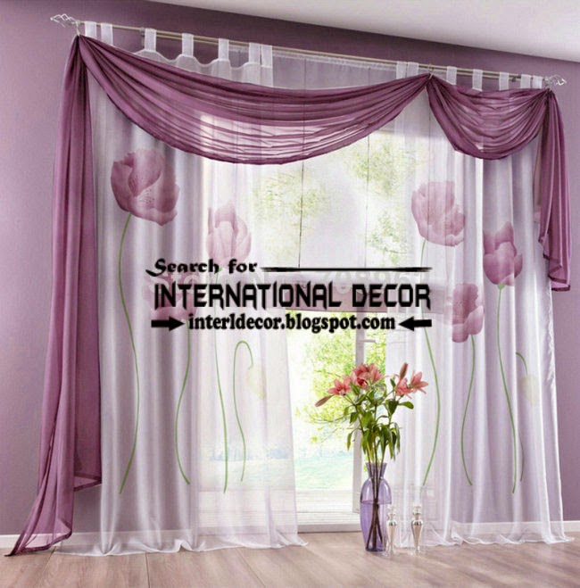 largest catalog of purple curtains and drapes 2015, modern purple scarf scarf curtain with eyelet layer