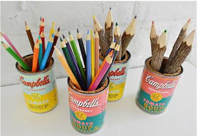 Tempat pensil dari kaleng bekas