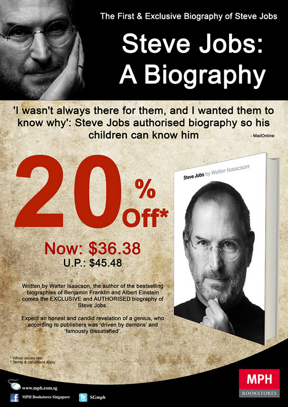 "MPH - 20% off the book ""Steve Jobs: A Biography"""