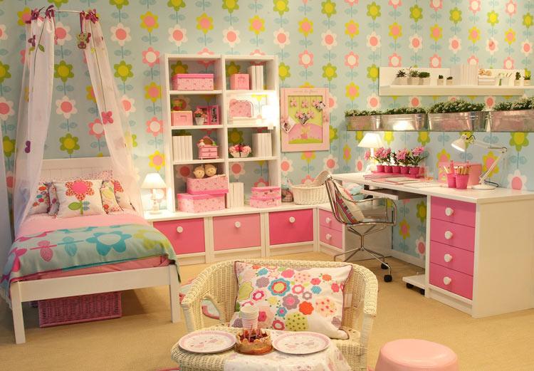 Dormitorios juveniles rom nticos for Habitaciones juveniles nina