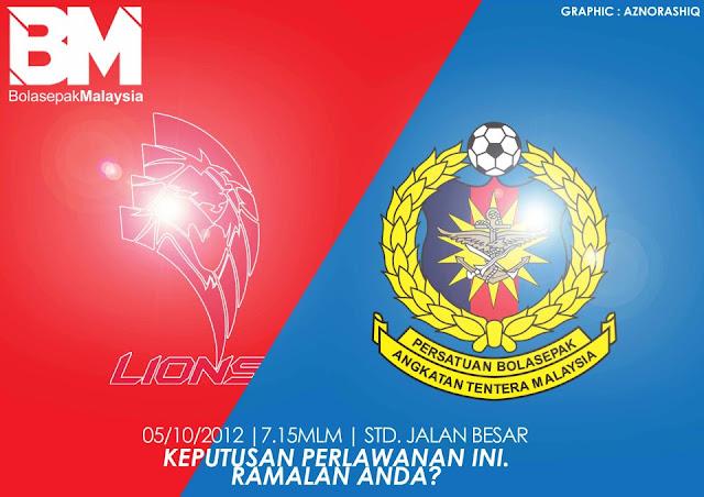 Keputusan Lions XII vs ATM Separuh Akhir Pertama 5 Oktober 2012