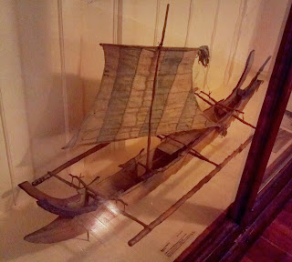 Phillipine double outrigger canoe model