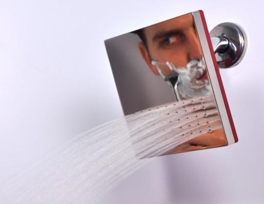 Decoraci n de la casa ba os original ducha espejo reflect for Espejo ducha