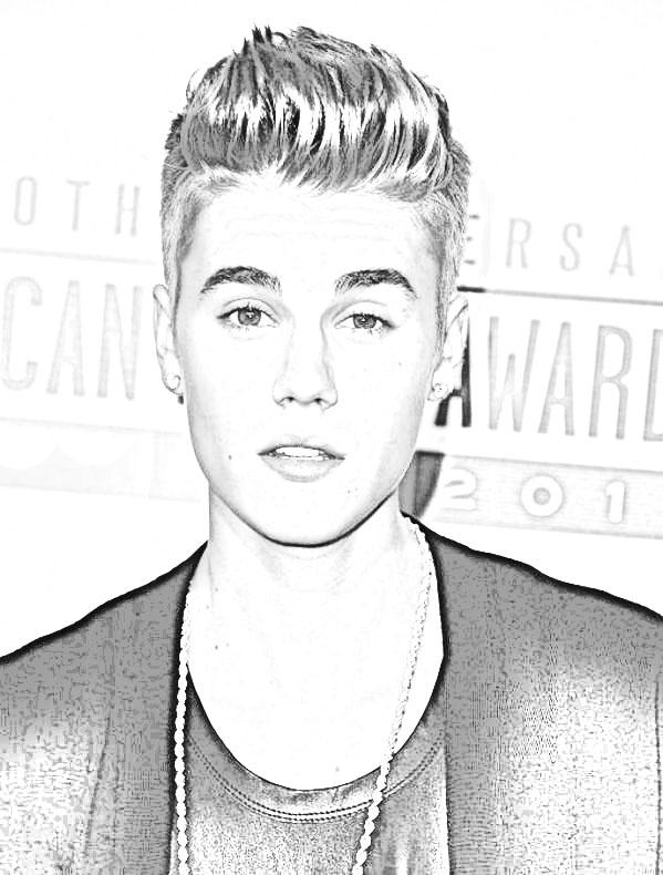 Imagenes de Justin Bieber para colorear