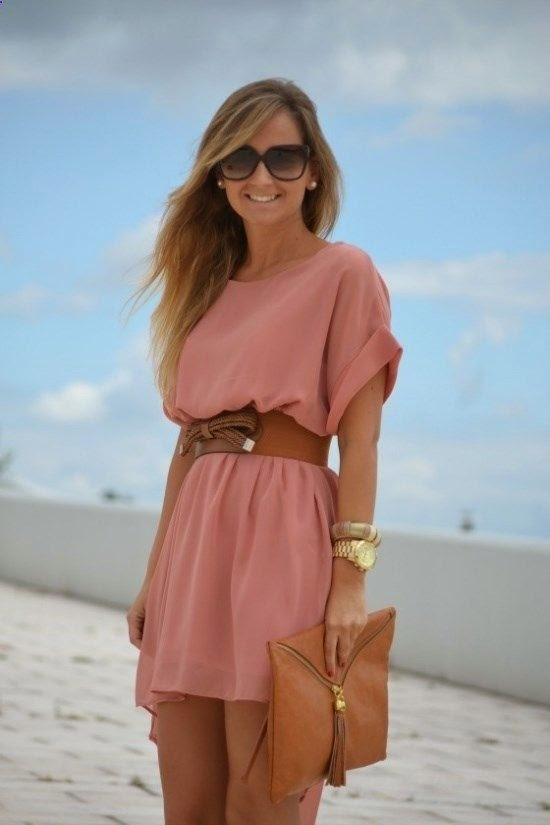 Soft summer belted dress