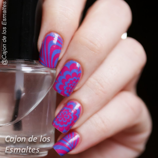 Falso watermarble con estampado