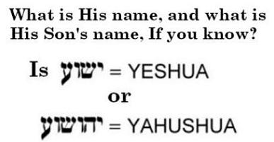 This is a refutation of the name theories; See the truthful testimony of God about his Messiah: